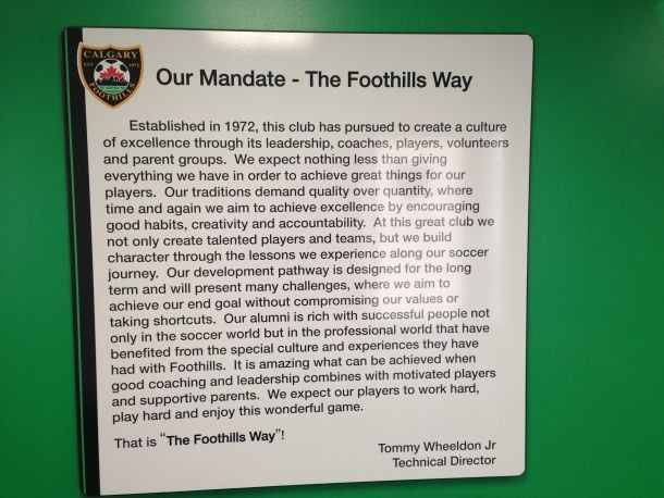 Foothills Soccer Club Mandate